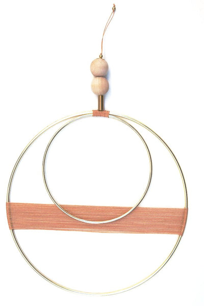 Double Circle Cantaloupe Wall Hanging