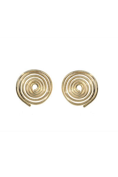 Gold Coil Earrings