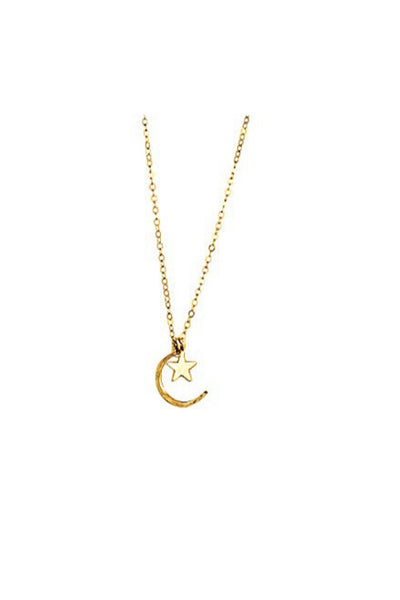 Gold Moon And Star Necklace