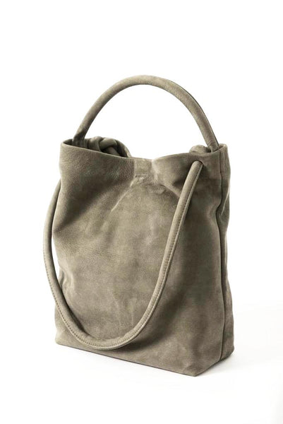 Taupe Nubuck Soft Purse