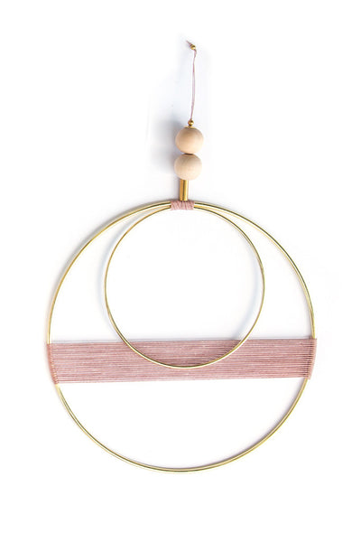 Rose Double Circle Wall Hanging