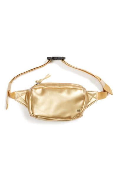 Gold Vegan Leather Delilah Hip Pack