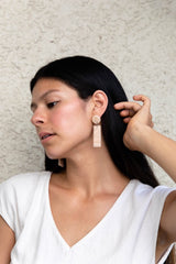 Dusty Peach Sagitta Earrings