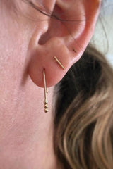 Gold Ball Hook Earrings
