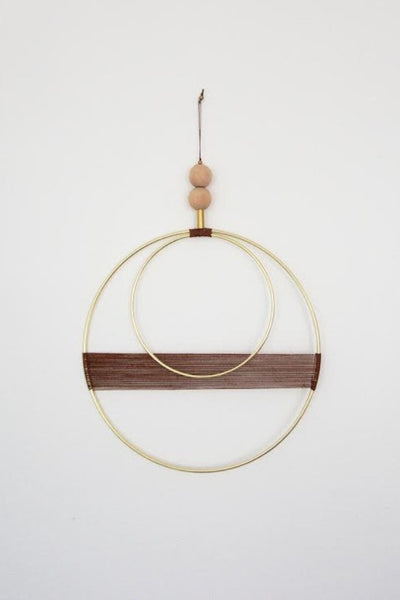 Double Circle Copper Hanging