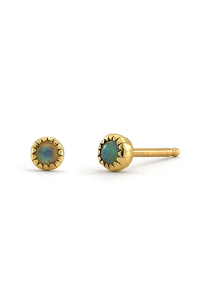 Gold Large Opal Studs