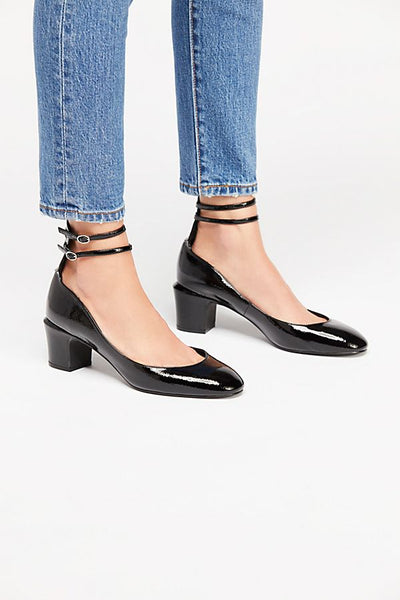 Black Lana Block Heels