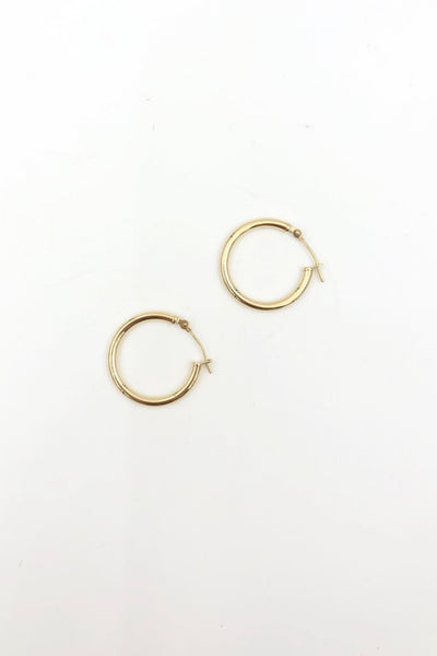 Gold Large NY Hoops