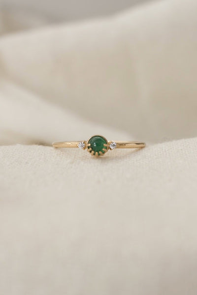 Emerald Joyful Eyes Ring
