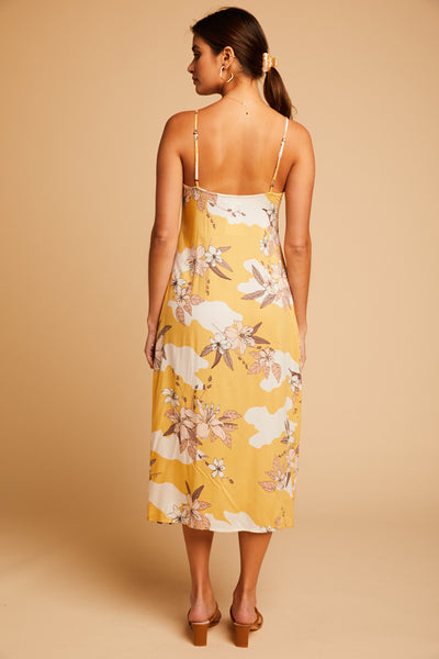 Ginger Papaya Midi Dress