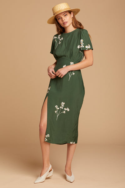 Green Salt Lake Midi Dress