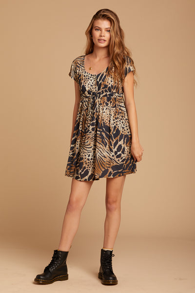 Brown Budapest Lucy Dress