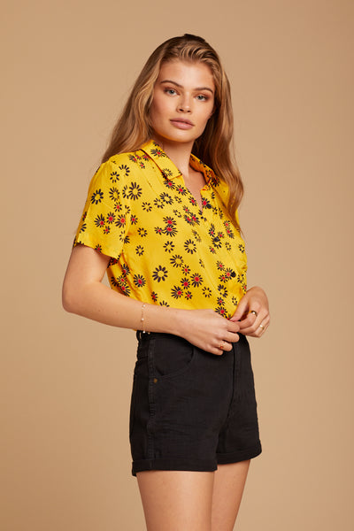 Yellow Daisy Cabana Shirt