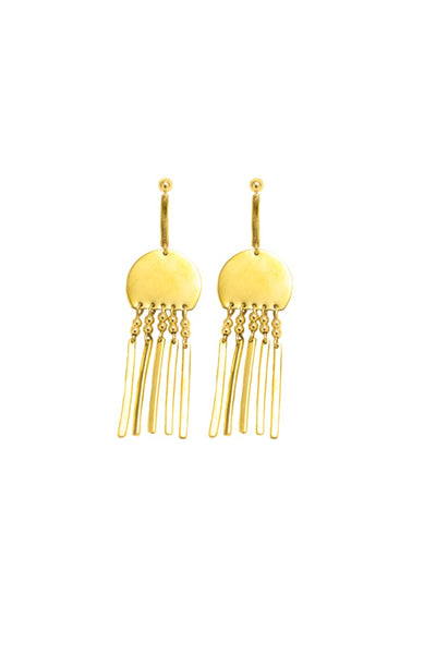 Gold Rain Dance Earrings