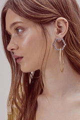 Simone Crystal Hoops
