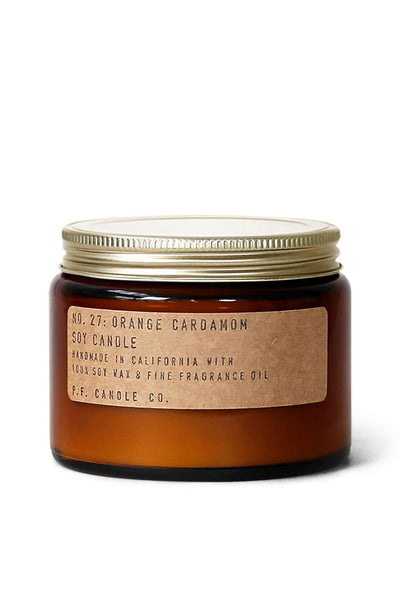 Large Orange Cardamom Candle