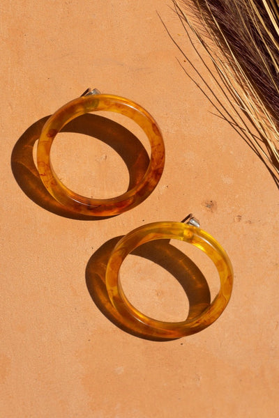 Golden Stella Hoops