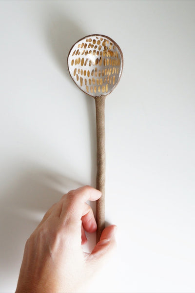 Gold Spark Serving Spoon