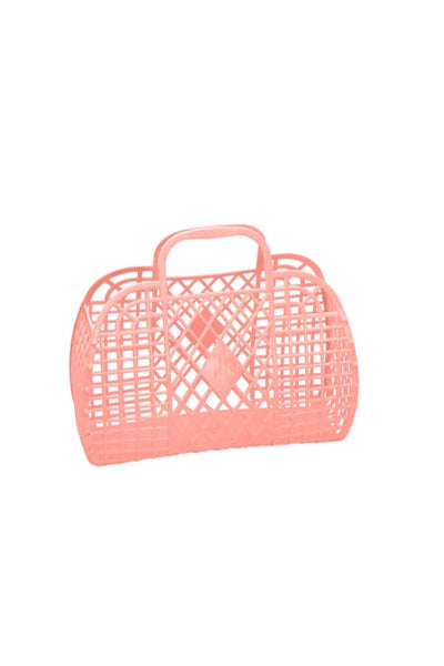 Small Peach Retro Basket