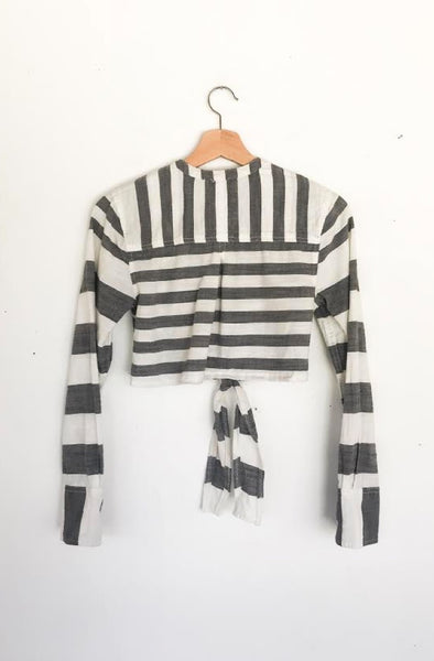 Cropped Stripe Blouse
