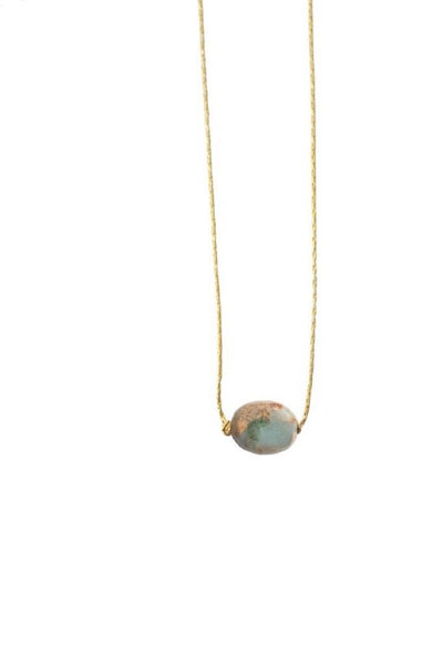 Blue Opal Itty Bitty Necklace