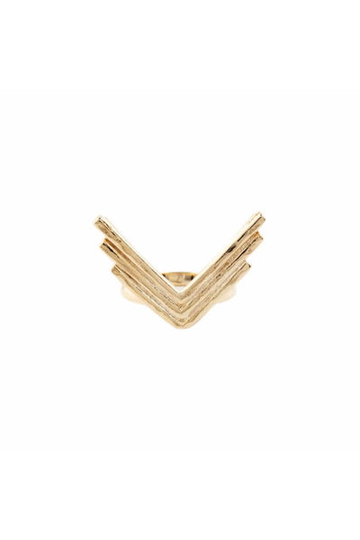 Gold Triple Arrow Ring