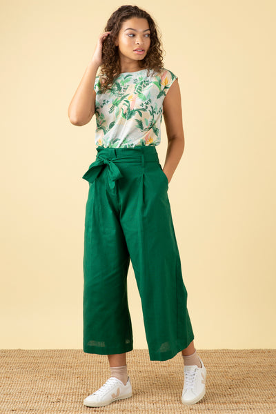 Gilda Tropical Green Trouser
