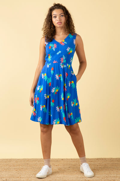 Amelie Blue Summer Fruits Dress