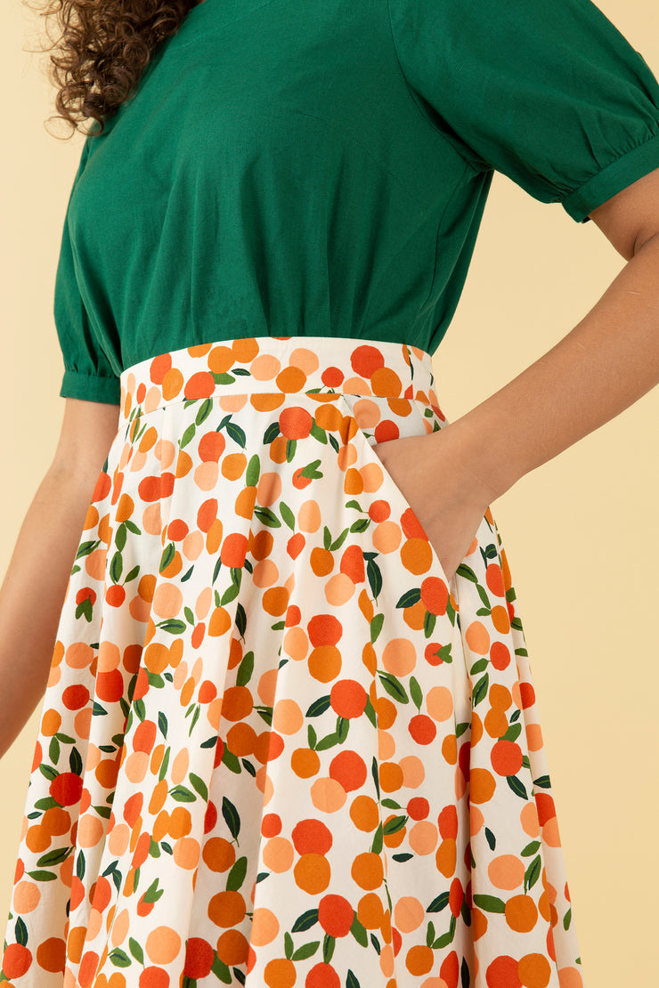 Sandy Mini Summer Oranges Skirt