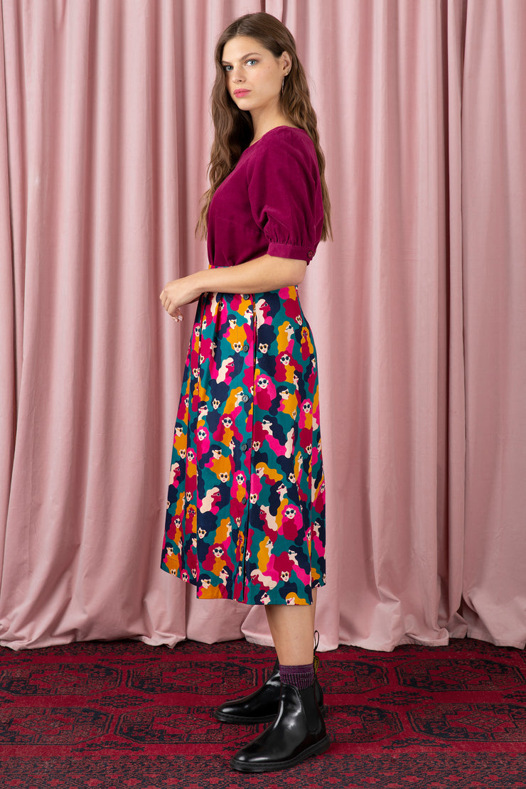 Briony Face In Time Skirt