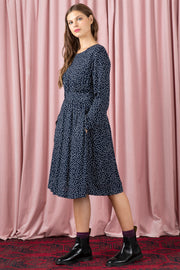 Amy Navy Spot Shirt Dress