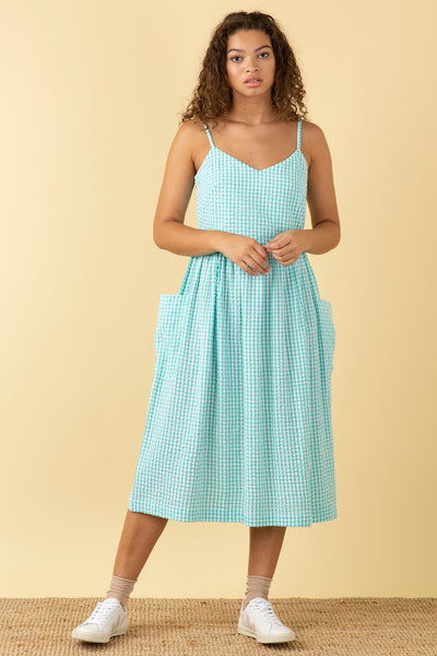 Bree Mint Gingham Dress