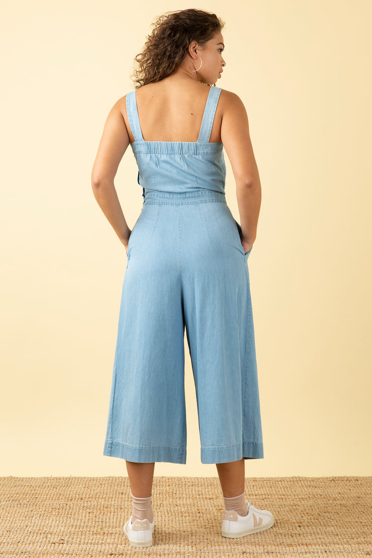 Bella Light Denim Jumpsuit