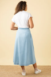 Briony Light Denim Skirt