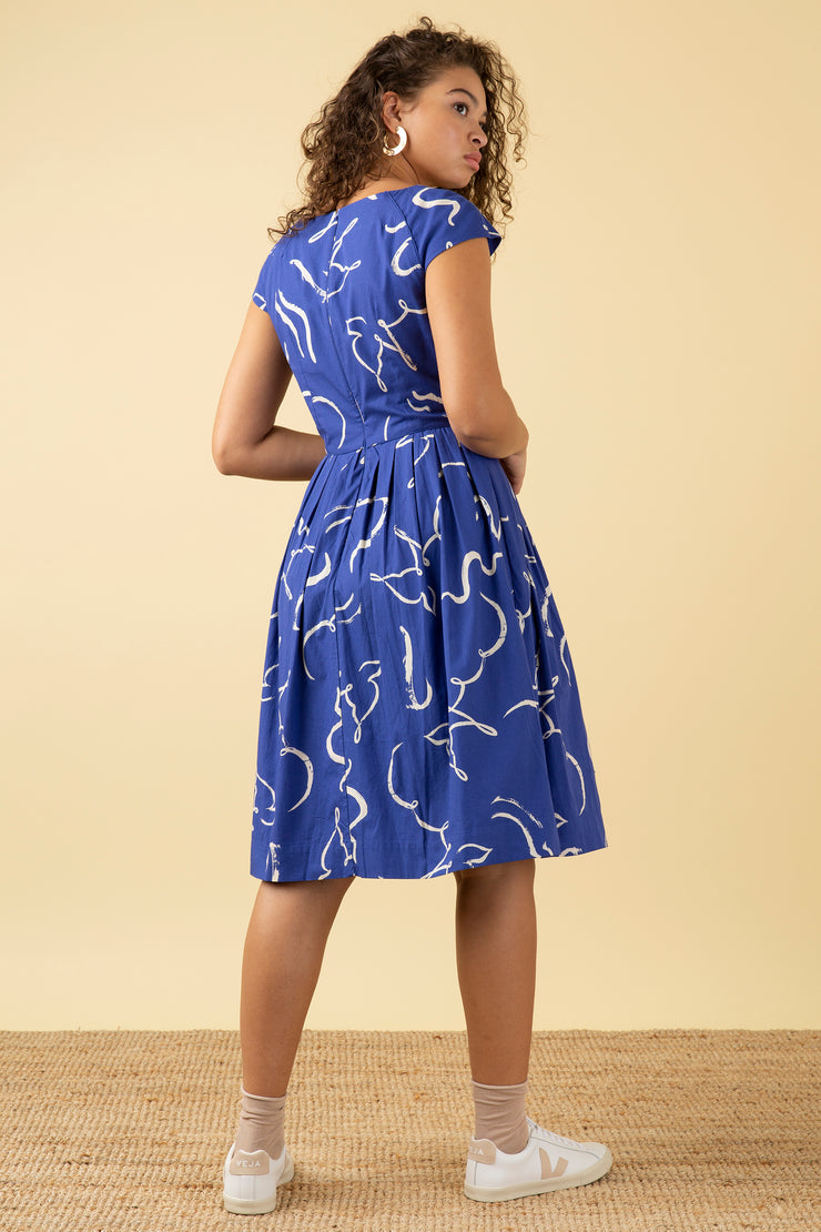 Claudia Brushstroke Dove Dress