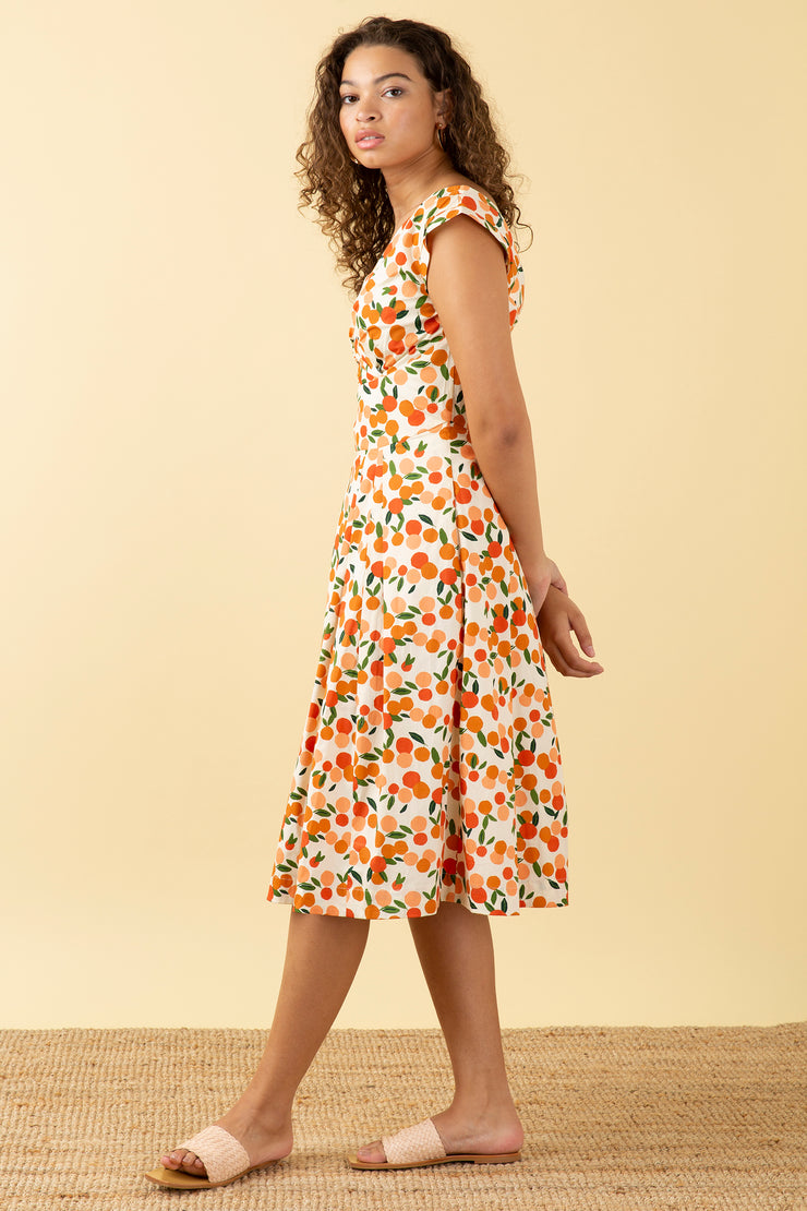 Florence Mini Summer Oranges Dress