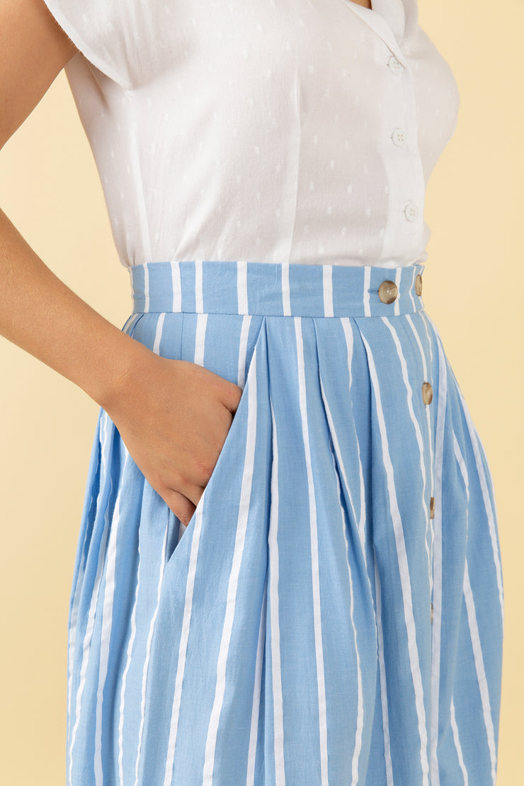 Isla Seaspray Stripe Skirt