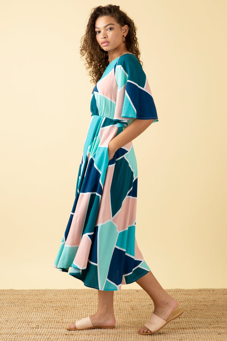 Ines Mosaic Tile Dress Long