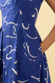 Isobel Brushstroke Dove Dress