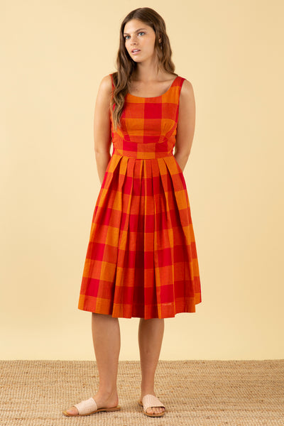 Isobel Heatwave Check Dress