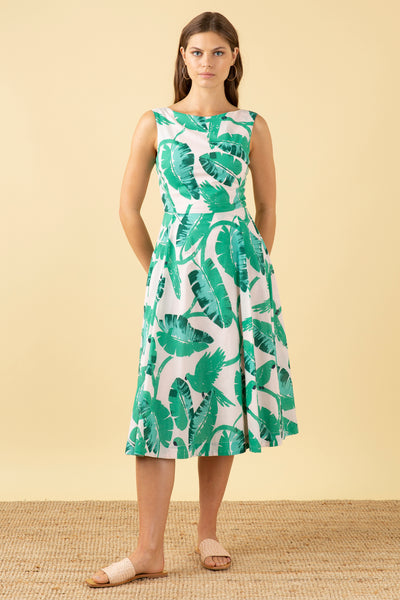 Jasmine Botanical Parakeets Dress