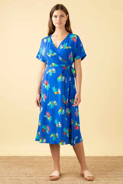 Jenna Blue Summer Fruits Wrap Dress