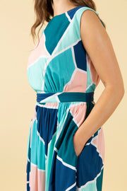 Lea Mosaic Tile Dress