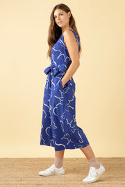 Margot Brushstroke Dove Jumpsuit