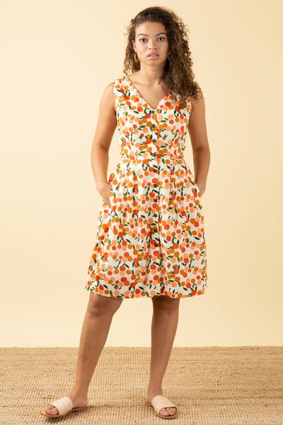 Scarlett Mini Summer Oranges Dress