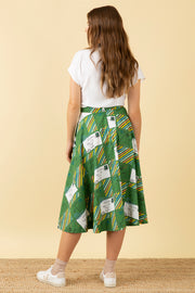 Sandy Postcards Print Skirt