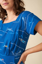 Aubrey Blue Divers Dress