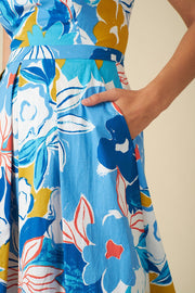 Emily and Fin | Alyssa Blue Asilah Floral Dress | Womens Dress