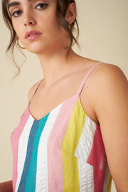 Bree Rainbow Stripe Dress