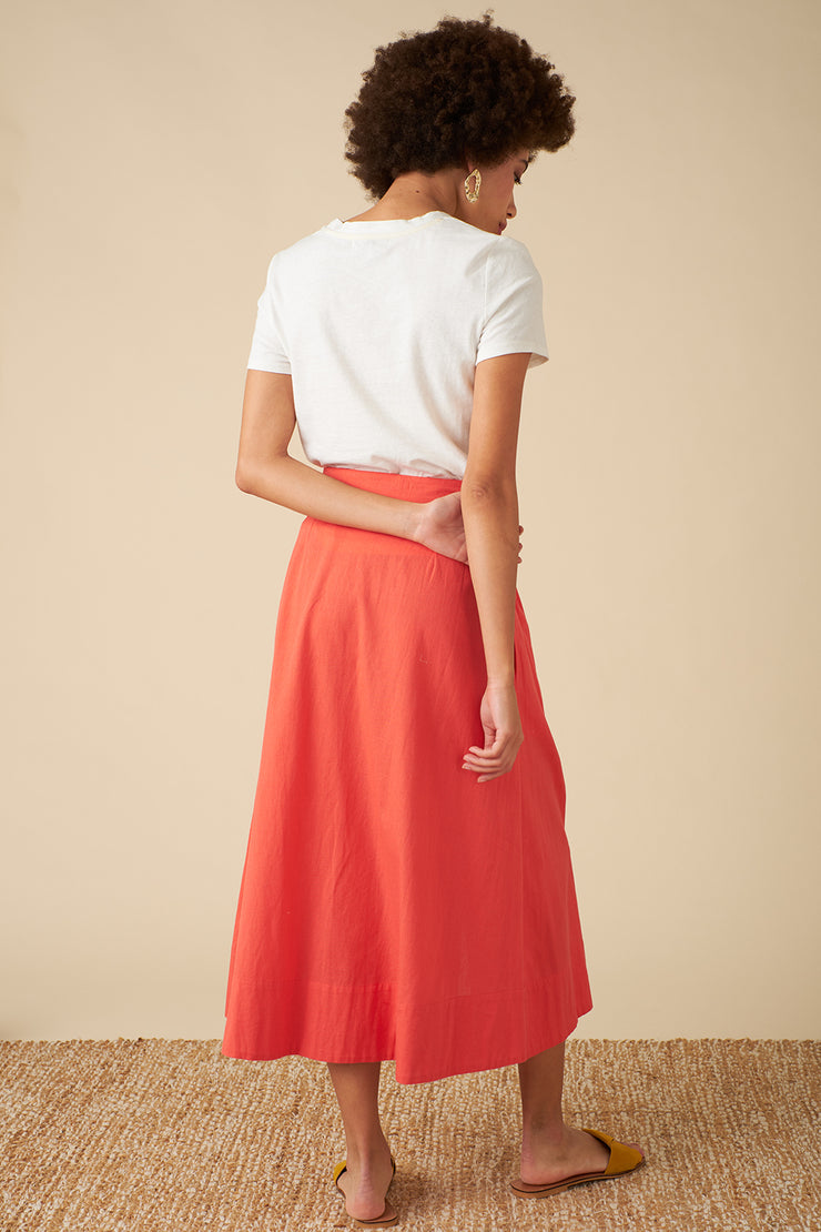 Brianna Cadmium Red Skirt